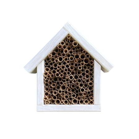 Domek dla pszczół murarek - biały zdjęcie 1