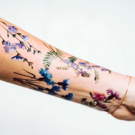 Tatuaże zmywalne Dzikie kwiaty zdjęcie 2